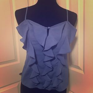 Forever 21 blue ruffled cami top